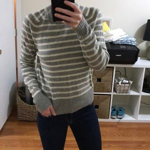 Striped sweater by j.crew.